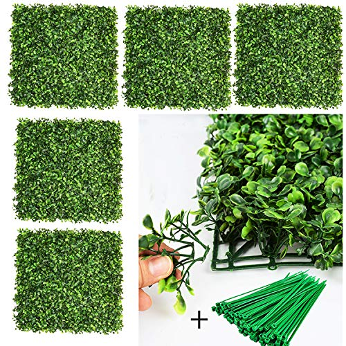 DearHouse 12 Pieces 20'x 20' Artificial Boxwood Panels Topiary Hedge Plant, Privacy Hedge Screen UV...