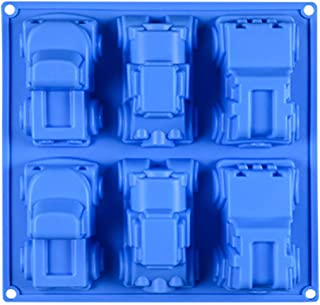 Truck Jeep Car Baking Bakeware DIY Silicone Mold for Birthday Theme Party, Mini Cakes, Plaster Cars, Crayons, Candle, Ice Cube, Soap, Lotion Bars, Bread, Tart, Pie and More Ideas; MJ06L