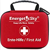 First Aid Kit,All-Purpose Aid Kit and Compact Emergency Kit for Office,Home,Car,School,Camping,Hunting and Sports,Survival Kit with Emergency Supplies.