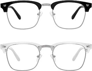 MEETSUN 2-Pack Blue Light Blocking Glasses Women/Men,Anti Eyestrain Filter Blue Ray Computer Game & UV400/Reduce Glare