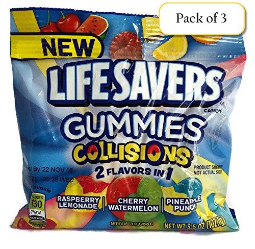 Lifesavers Gummies Collisions, 3.6oz Bag (Pack of 3)