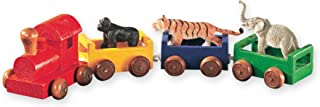 Wild Republic Wooden Train Set, Gorilla, Tiger, Elephant, Kids Gifts, Train Toys, 7Piece Train