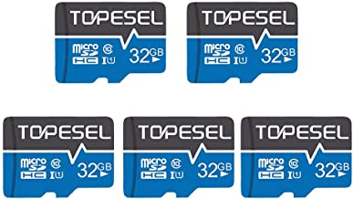 TOPESEL 32GB Micro SD Card 5 Pack Memory Cards Micro SDHC UHS-I TF Card Class 10 for Cemera/Drone/Dash Cam(5 Pack U1 32GB)