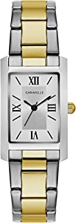 Caravelle Women's Quartz Watch with Stainless-Steel Strap, Two Tone, 16 (Model: 45L167)