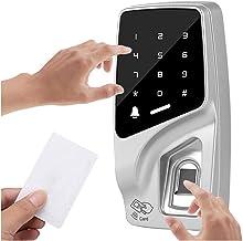 Multifunctioneel deurslot 125KHZ RFID ID KAART Semiconductor Wachtwoord Touch Vingerafdruk Metalen Ketpad Deurtoegang Invo...
