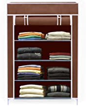EEMWAY Multipurpose Portable Folding Shoe Rack/Shoe Shelf/Cloths Cabinet with Wardrobe Cover
