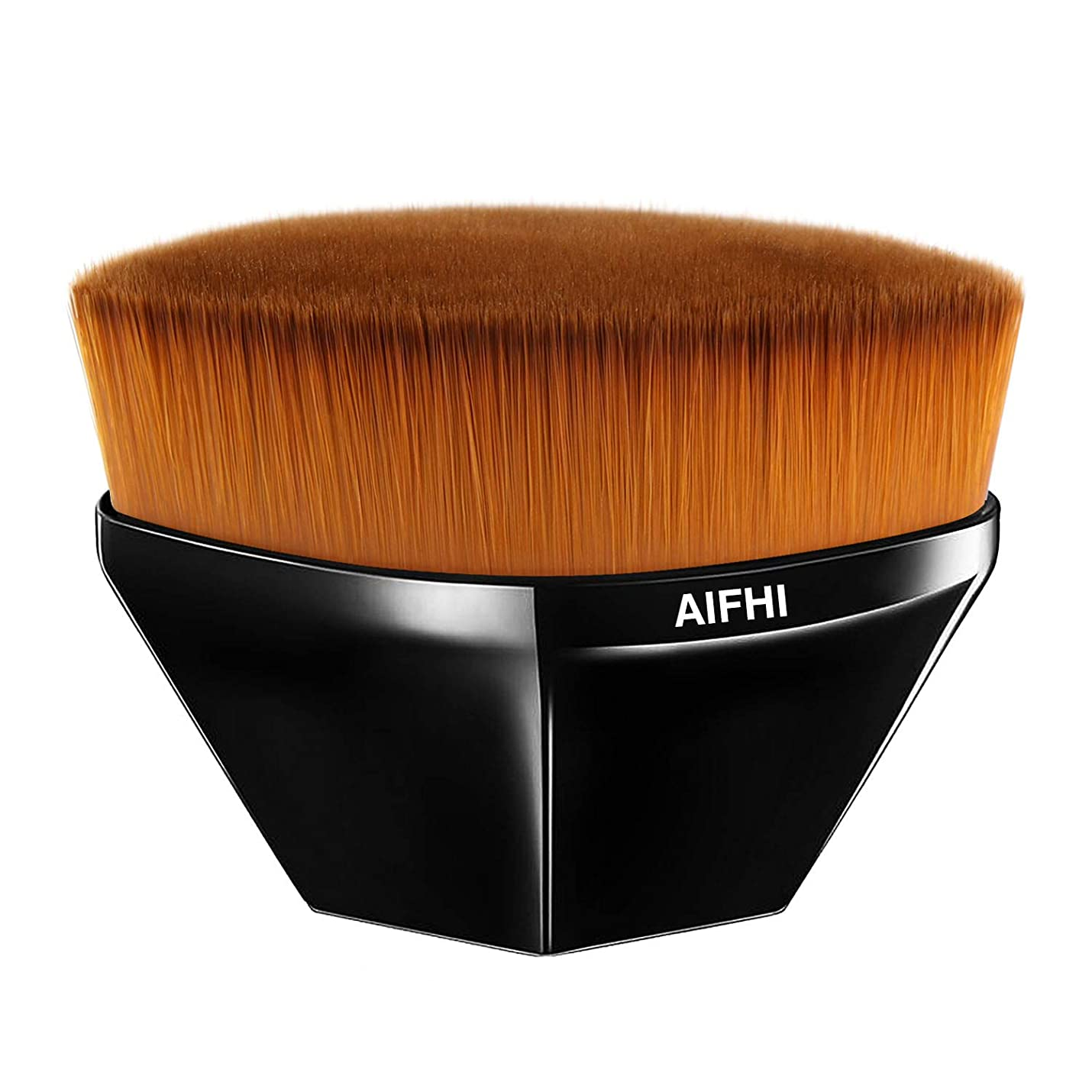 連邦自伝ミシン目AIFHI メイクアップブラシ 粧ブラシ 化粧筆 ファンデーションブラシ 肌に優しい 携帯便利 高級のタクロンを使用 (ブラック)