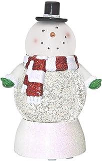 Snowman Swirl Glitter Dome Belly LED 7.5 Inch Decorative Tabletop Snow Globe