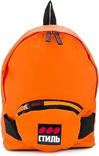 Luxury Fashion | Heron Preston Mens HMNB006F196160041988 Orange Backpack | Fall Winter 19