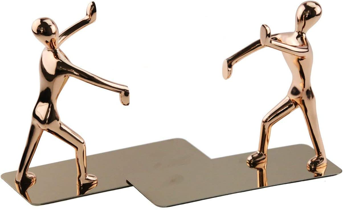 Low price Winterworm 1 Pair Stainless Steel Kung Fu Bookends 5% OFF Ends Man Book