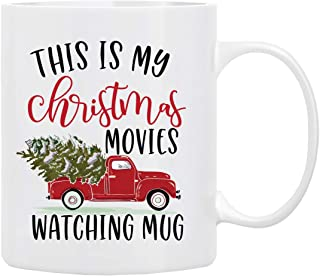 Christmas Gifts Coffee Mug,This is My Christmas Movies Watching Mug, Funny Coffee Mug from Daughter, Wife and Son – Mug in Decorative Christmas Gift Box,11
