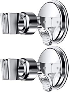 Adjustable Shower Head holder, Bathroom Suction Cup Handheld Shower head Bracket, Removable Handheld Showerhead & Wall Mounted Suction Bracket (two packs)
