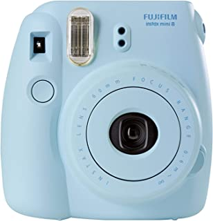 Fujifilm Instax Mini 8 - Cámara analógica instantánea (flash velocidad de obturación fija de 1/60 s) color azul