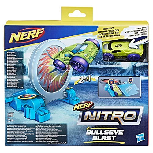 Hasbro Nerf Nitro Double Action Stunt Schaum Auto Set - Grünes Auto