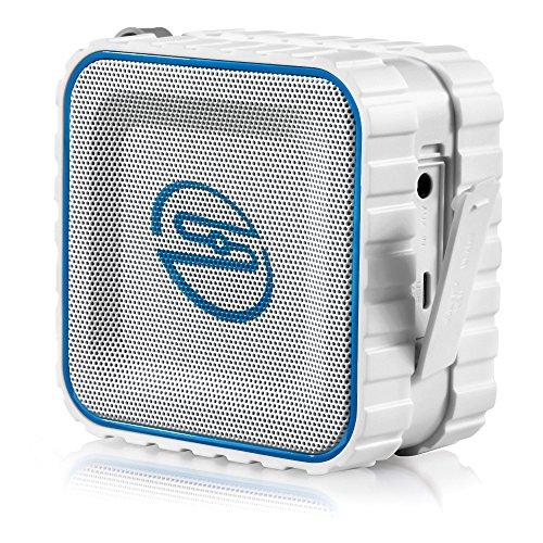 deleyCON SOUNDSTERS - Rocktank Mini BT - Mini Bluetooth Lautsprecher Box Kabellos Wasserdicht - Für Handy & Co - Outdoor - Regen geschützt - Weiß