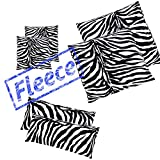 2x Pack ZEBRA Microfaser Thermo Fleece Kissenbezug Kissenhülle 80x80 40x80 40x40
