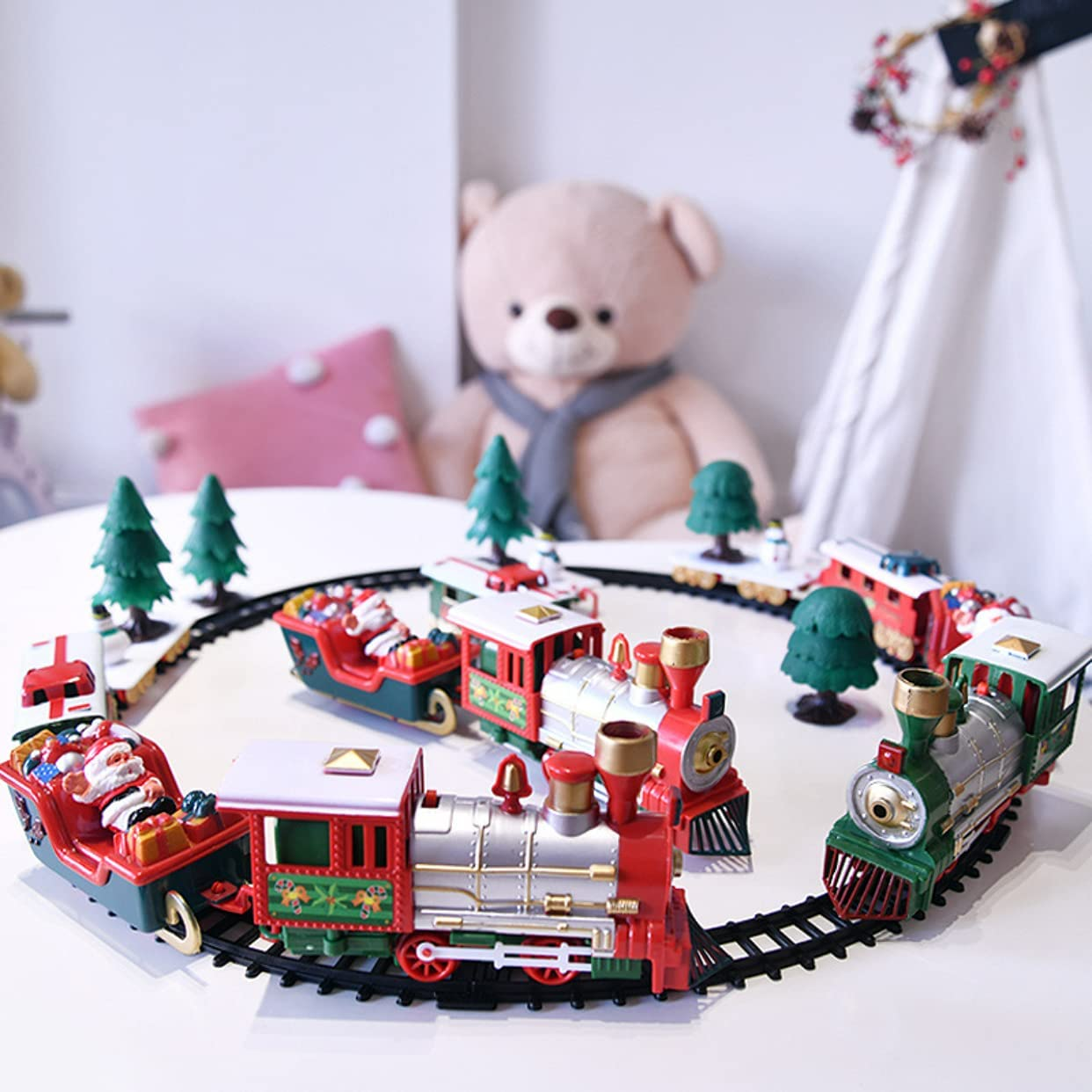 Christmas Train Sets with and Popular shop is the Shipping included lowest price challenge Toy Lights Sounds