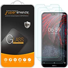 (3 Pack) Supershieldz for Nokia (6.1 Plus) Tempered Glass Screen Protector, Anti Scratch, Bubble Free