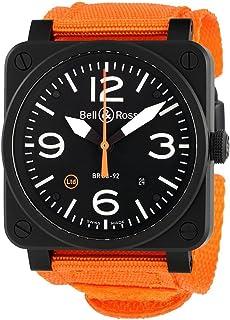 Bell & Ross - Bell y Ross Aviación Automático Negro Dial Reloj para Hombre BR0392-O-CA
