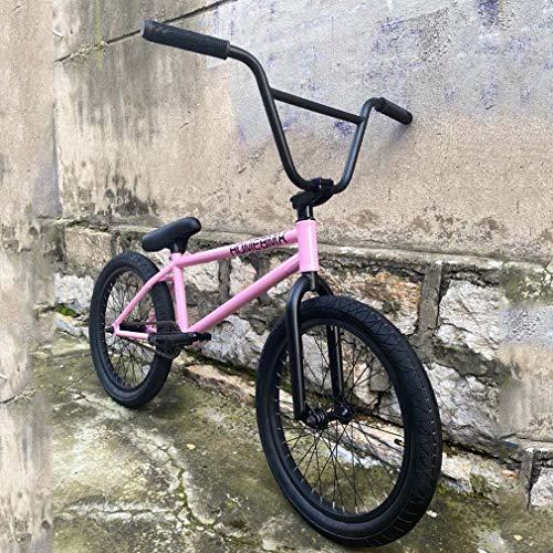 BMX Bike 20 Zoll Freestyle für Jugendliche, Erwachsene und Anfänger bis Fortgeschrittene, Cr-Mo Stahlrahmen, Gabel und 9,3 Zoll Lenker, 25X9T Getriebe, zweilagige Räder