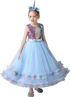 فستان اميرة يونيكورن طويل من قماش التول انيق وللحفلات الراقصة للفتيات من ماي ريسام