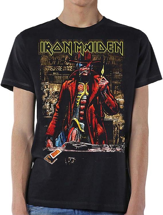 Iron Maiden Somewhere in Time Steve Harris Oficial Camiseta para Hombre