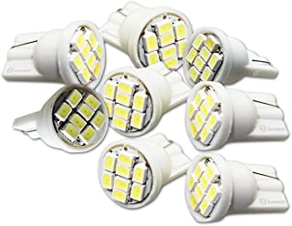 Zone Tech T10 8-SMD LED Bulb - 8-Piece Premium Quality Super Bright 8-SMD T10 12V Light LED Replacement Bulbs 168 194 2825 W5W