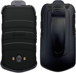 Cbus Wireless Black Holster Case w/ Ratcheting Belt Clip for Kyocera DuraXV LTE E4610 (Verizon), DuraXE E4710 (AT&T, US Cellular)