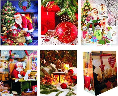 17293 Lot de 48 mini sacs cadeaux de Noël