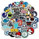 JIAQI Code ist Kunst Programm Sprache Internet Software Aufkleber für Geek Hacker Entwickler DIY Laptop Telefon Auto Wandtattoos 50Pcs