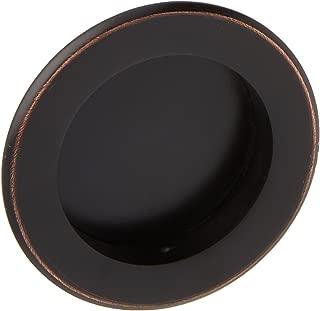 Round Flush Sliding Door Pull - Oil Rubbed Bronze