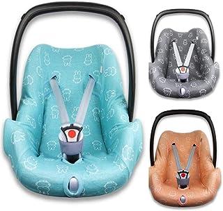 BriljantBaby BabyFit NIJNTJE/MIFFY  Universal Schonbezug 100% Baumwolle Interlock-Jersey  Für Babyschale, Autositz, z.B. Maxi Cosi CabrioFix, Citi, Pebble u.a. Light Ocean