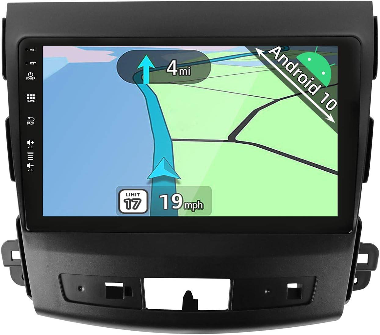 YUNTX Android 10 2 DIN Autoradio para Mitsubishi Outlander/Peugeot 4007/Citroen C-Crosser - 9 Pulgadas - 2G+32G - Gratis Cámara - Soporte Dab/Control del Volante/WiFi/BT 5.0/MirrorLink/CarPlay/USB