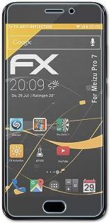 atFoliX Skärmskydd är kompatibel med Meizu Pro 7 Skyddsfilm, antireflekterande och stötdämpande FX Film (3X)