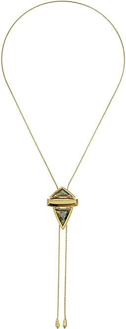 Pyramid Stone Adjustable Bolo Necklace