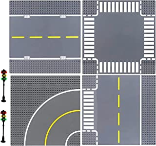 صفحات پایه کلاسیک General Jim's Building Block Road Base Plates سازگار با همه مارک های اصلی - 8 بسته پست سبک جایزه