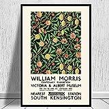 Exposición de William Morris carteles e impresiones de pintura, cuadros de arte de pared de sala de estar, pinturas de lienzo para decoración del hogar A6 30x45cm