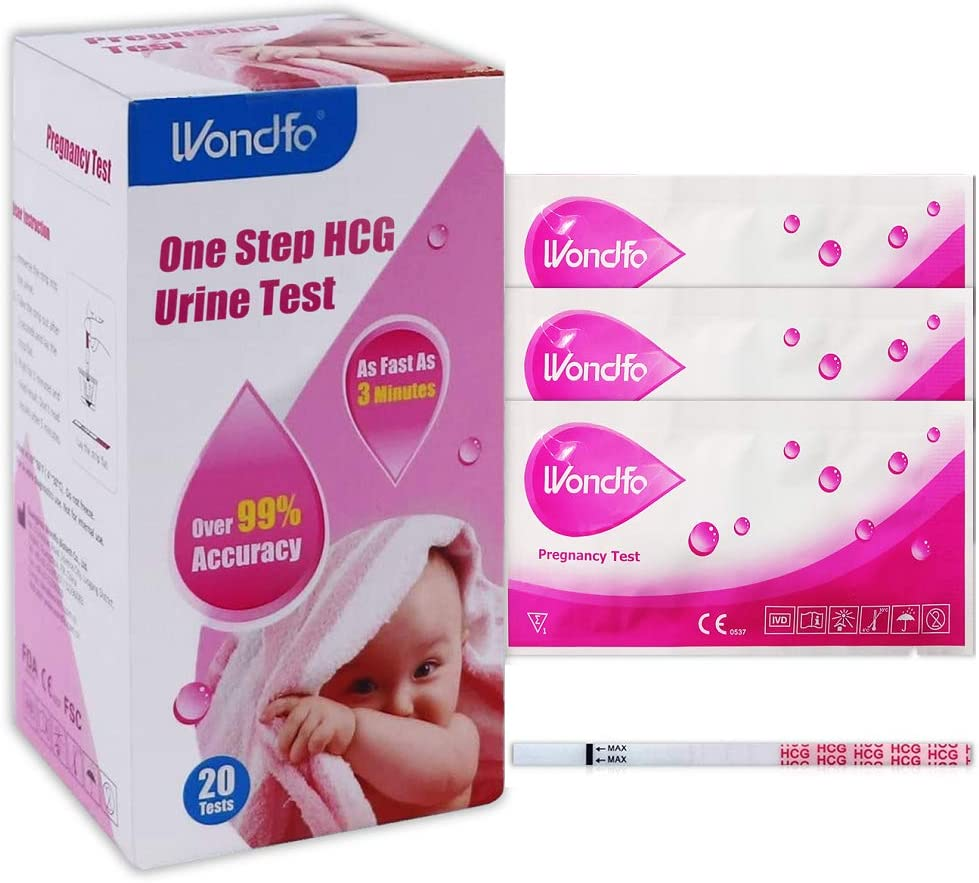 Pregnancy Test Strip HCG 20 Count for Rapid Early Pregnancy Detection (20)