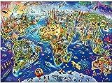 WXLSL Puzzles Mapa del Mundo Colorido El Rompecabezas De Madera 1000 Piezas Ersion...