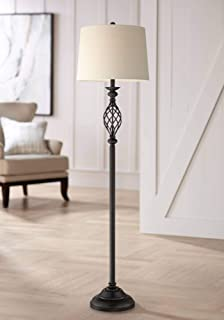 Annie Bronze Finish Iron Scroll Floor Lamp - Franklin Iron Works