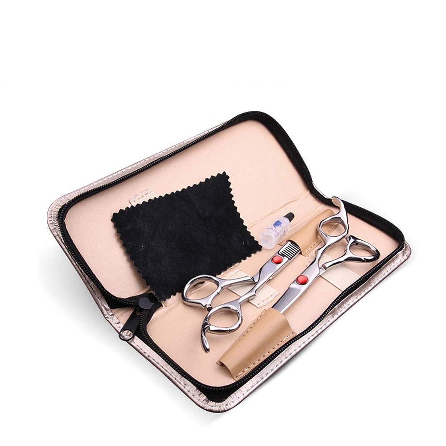 指定する薬剤師電卓6.0インチ専門理髪はさみセット、家庭用理髪はさみコンビネーションキット モデリングツール (色 : レッド)