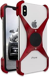 Rokform Predator [iPhone X/XS] Slim Aerospace Aluminum Minimalist Magnetic Case (Red)