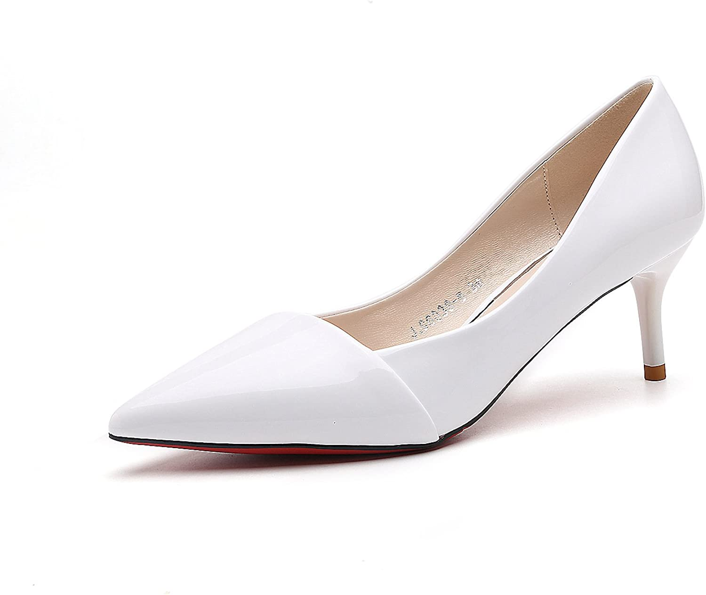 Meiren Black High Heels Stiletto Pointed Women's Single shoes