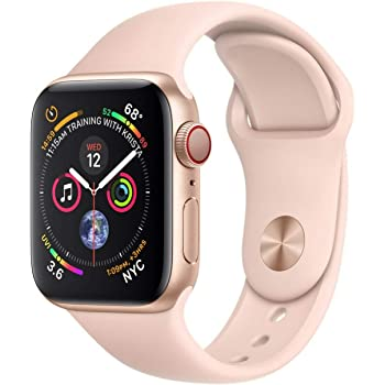 Amazon Com Apple Watch Series 3 Gps 38mm Gold Aluminum Case With Pink Sand Sport Band Renewed