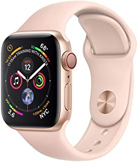 Apple Watch Series 4 (GPS + Cellular, 40MM) - Gold Aluminum Case with Pink Sand Sport Band (Renewed)