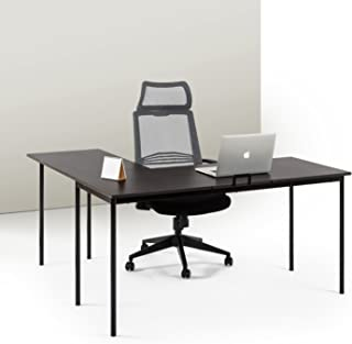 Zinus Dominic L-Shaped Corner Desk in Espresso