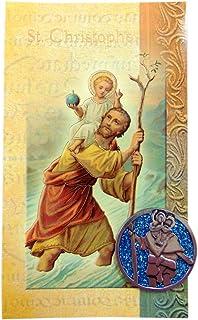 St Christopher Biography Prayer Card Folder and Metal Token Set