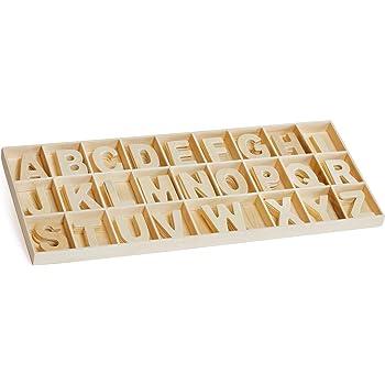 Holz-Buchstabensortiment, 130-tlg.