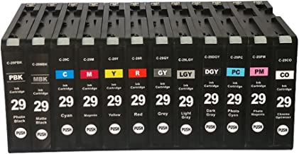 INKWAY Compatible PGI-29 Ink Cartridge Works with Canon pixma pro-1 Printer one Set (12 pcs)