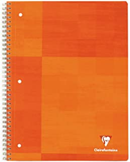 Clairefontaine Wirebound 3 Holes Notebook - Letter Size (8.5 x 11 inches), Lined, 90 pages